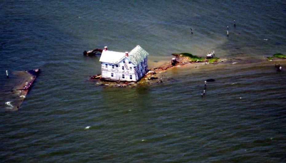 Умирающий Голландский остров (США, Мэриленд)