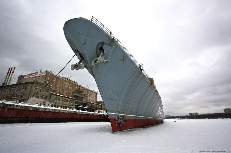 Заброшенный сторожевой корабль «Дружный»