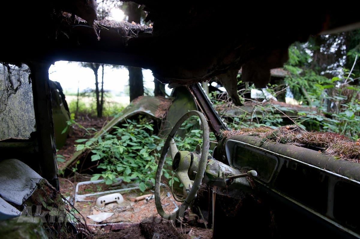 Исчезнувшее автомобильное кладбище в Шатийоне (Бельгия)