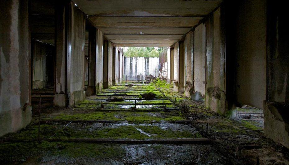 Недостроенный бункер в Рузском районе Московской области