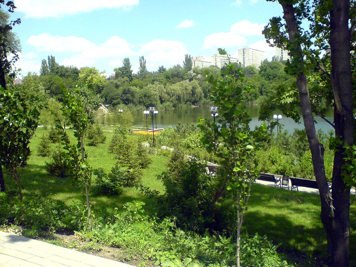 """Вид из гастрокафе """"Ложка"""" в парке Щербакова (Донецк)"""
