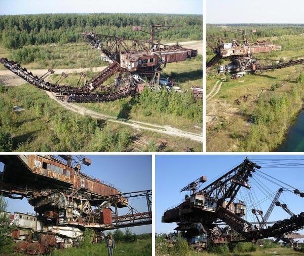 Заброшенный гигантский роторный экскаватор, Россия
