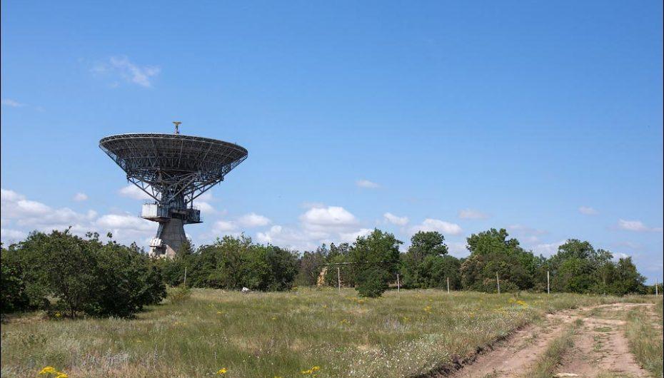 Заброшенный центр космической связи в Школьном