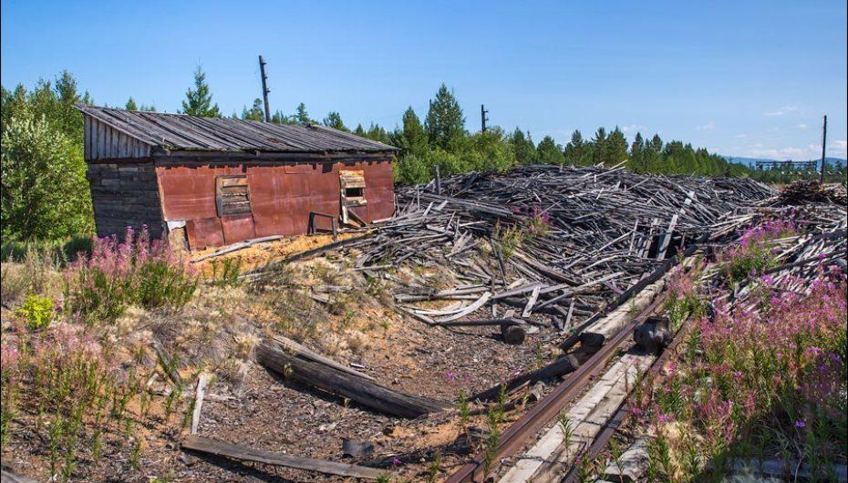 Полузаброшенная советская лесозаготовка в Забайкалье