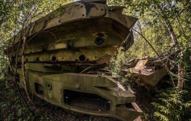 Лесное кладбище военной техники