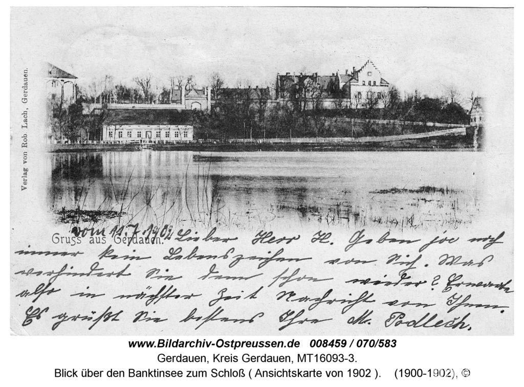 Замок Гердауэн. Довоенное фото