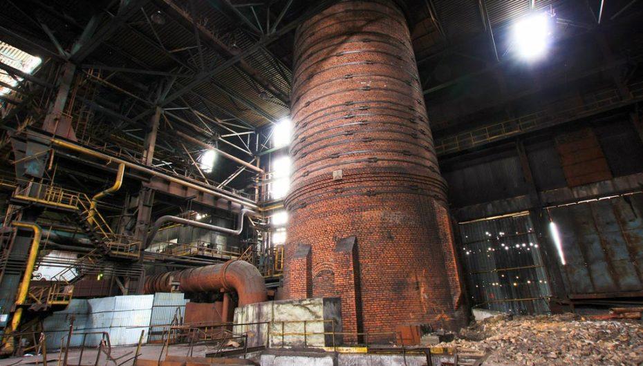 Заброшенный металлургический завод в центральной России