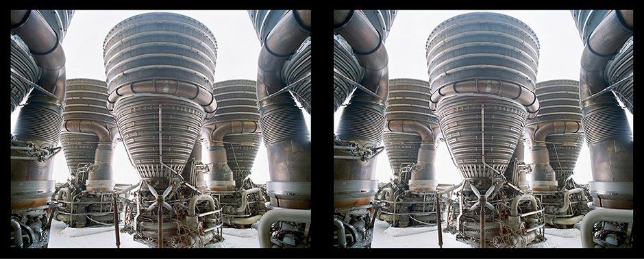 Связка двигателей F-1, космический центр НАСА. Фото: Roland Miller