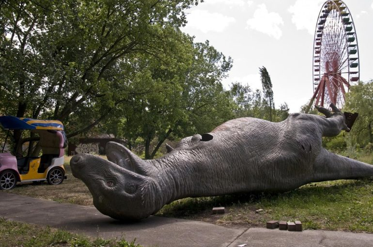 Заброшенный парк аттракционов в Берлине