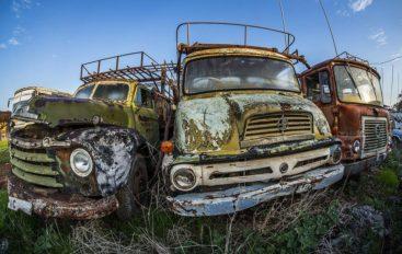 Солнечные тачки   Кладбище автомобилей на Кипре