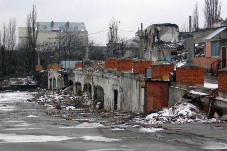 Разрушенный Сенной рынок