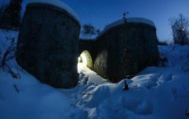 Старый дренажный тоннель под железной дорогой