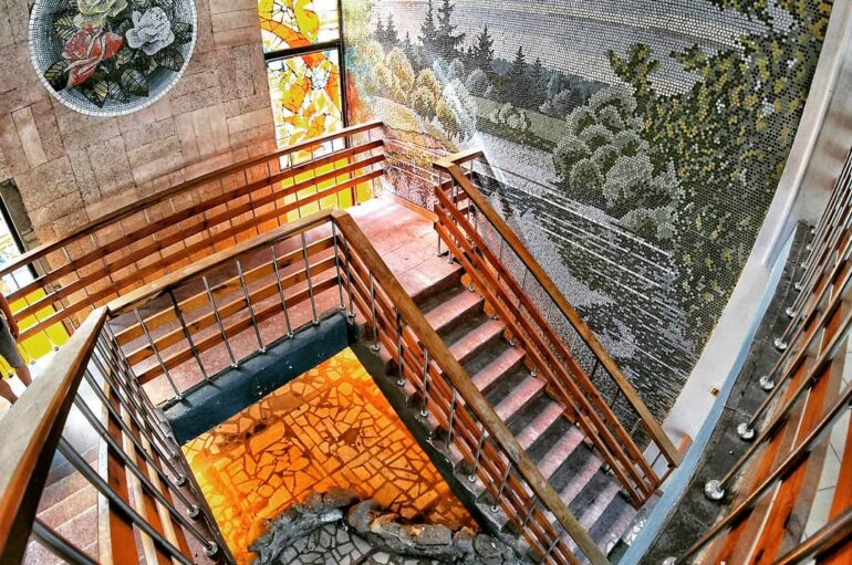 Интерьеры заброшенного санатория