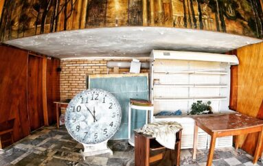 Декоративное оформление стен заводской столовой, Москва