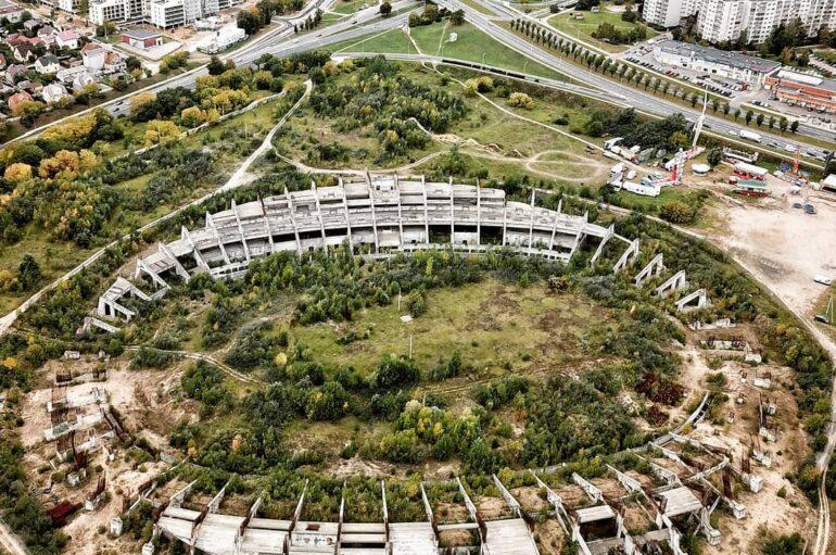 Национальный стадион Литвы 🏟️ 🇱🇹Огромная заброшенная стройка