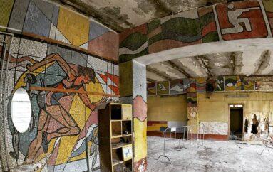 Мозаики спортивного павильона стадиона МЭЛЗ в Измайлово