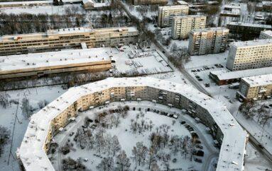 Новокузнецкая «Шайба» — панельная пятиэтажка, замкнутая в кольцо